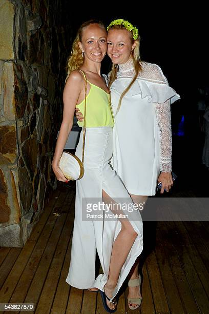 Anastasia Vickina and Alisa Roever attend The White Party Janna Bullock Eugenia Bullock and Frederick Anderson Celebrate a Month of Cancer Birthdays...