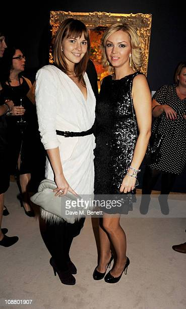 Anastasia Virganskaya and Ksenia Gorbacheva attend a cocktail party celebrating Mikhail Gorbachev's 80th birthday hosted by the Gorbachev family and...