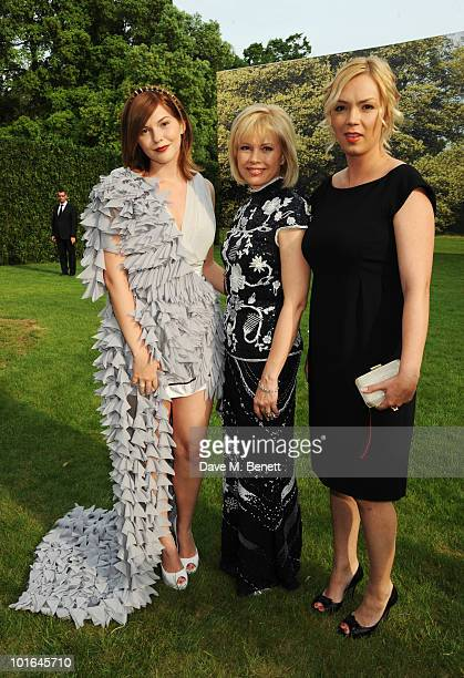 Anastasia Virganskaya Irina Virganskaya and Xenia Virganskaya attend the Raisa Gorbachev Foundation Party at Stud House Hampton Court Palace on June...