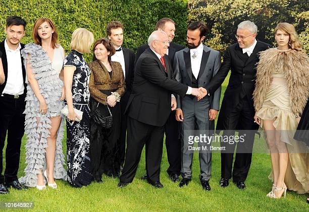 Anastasia Virganskaya Irina Virganskaya Mikhail Gorbachev Evgeny Lebedev Alexander Lebedev and Elena Lebedev attend the Raisa Gorbachev Foundation...