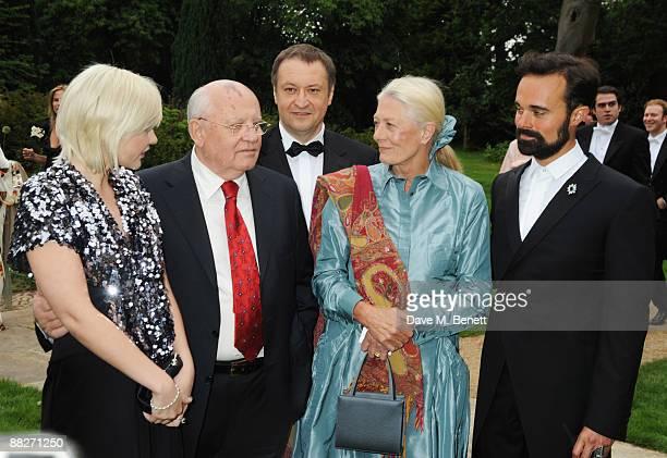Anastasia Virganskaya Mikhail Gorbachev Vanessa Redgrave and Evgeny Lebedev arrive at the Raisa Gorbachev Foundation Annual Fundraising Gala Dinner...