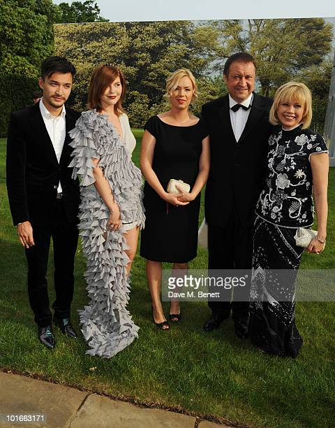 Anastasia Virganskaya Xenia Virganskaya and Irina Virganskaya attend the Raisa Gorbachev Foundation Party at Stud House Hampton Court Palace on June...