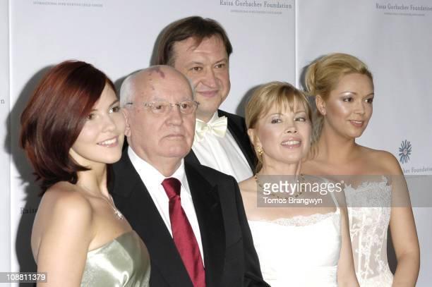 Anastasia Virgaskaya Mikhail Gorbachev Irina Virgaskaya Andrei Trychachev and Ksenia Gorbacheva
