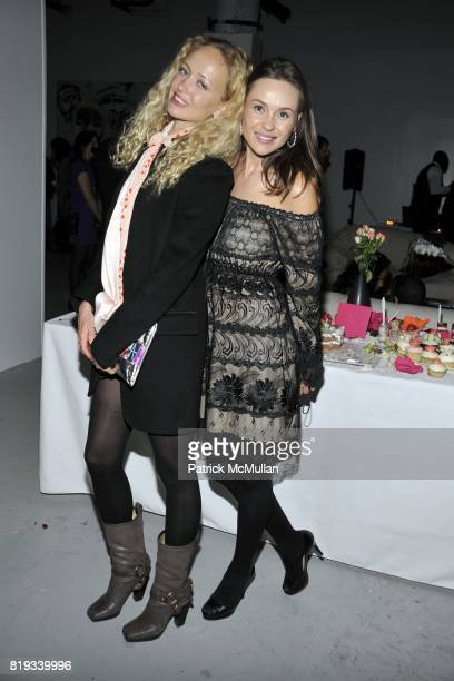 Anastasia Vitkina and Beata Bohman attend Susan Shin's Birthday Celebration at Alex Charriol's Gallery on April 28 2010 in New York City