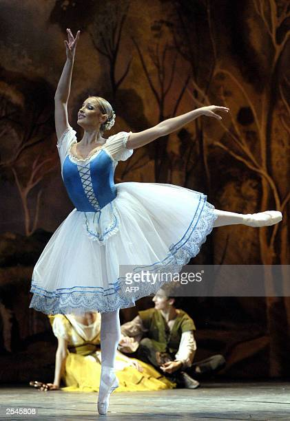 Anastasia Volochkova performs in 'Giselle' ballet in SaintPetersburg 29 September 2003 The Bolshoi Theater broke the law when it fired one of its...