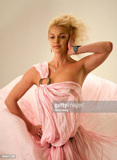 Anastasia Volochkova the Russian ballerina and former candidate for the mayor of Sochi poses during a photo shoot in Moscow Russia on Thursday April...
