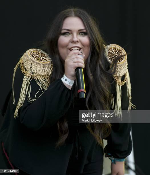 Anastasia Walker of Bang Bang Romeo performing at Seaclose Park on June 22 2018 in Newport Isle of Wight