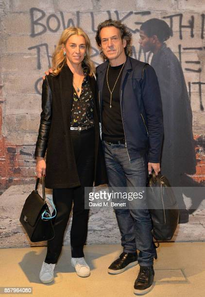 Anastasia Webster and Stephen Webster attend a private view of the Basquiat exhibition cohosted by NETAPORTER in partnership with Frieze at Barbican...