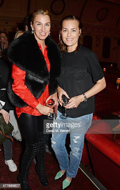 Anastasia Webster and Yasmin Le Bon attend a preview screening of Winter at The Electric Cinema on March 11 2014 in London England