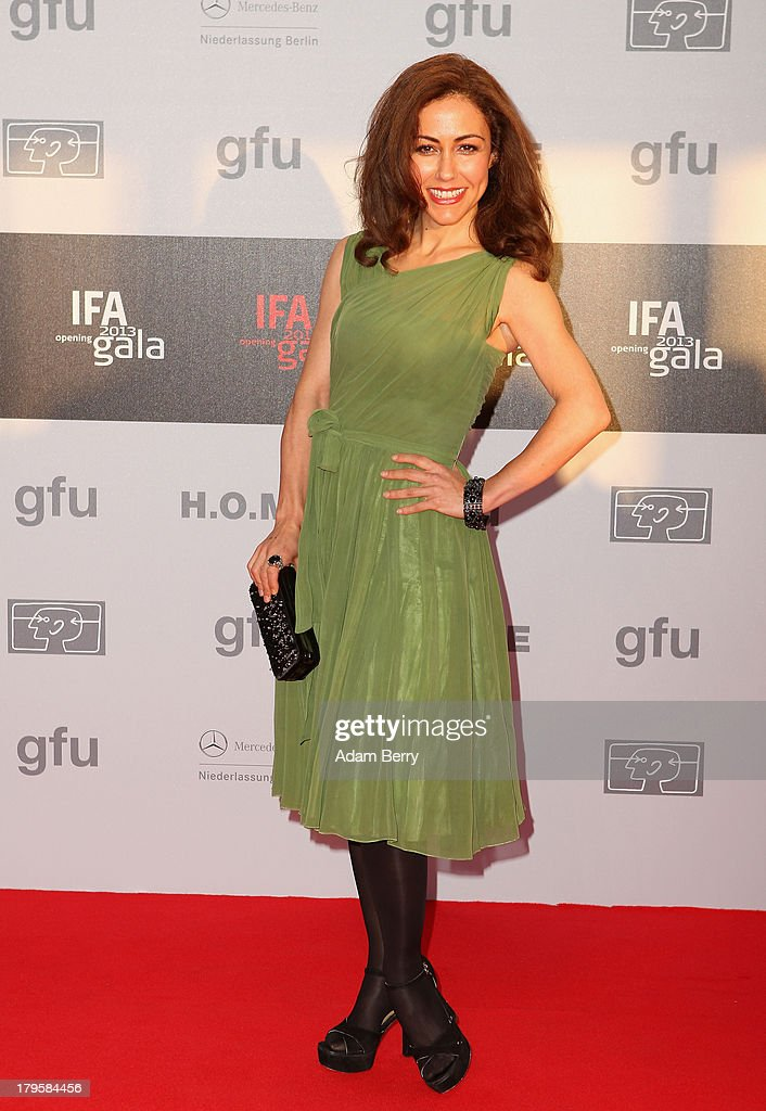 Anastasia Zampounidis arrives for the IFA 2013 Consumer Technology Trade Fair Opening Gala at Messe Berlin on September 5, 2013 in Berlin, Germany.