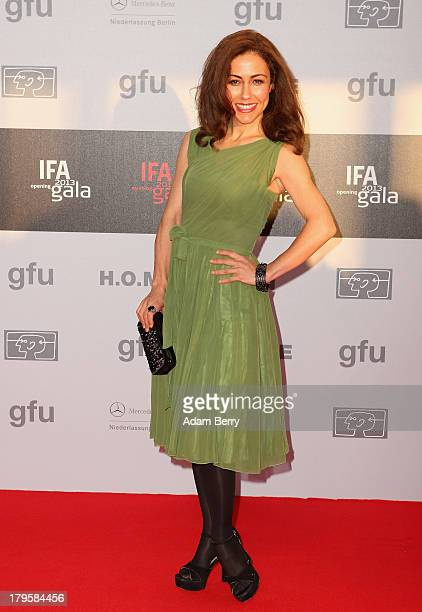 Anastasia Zampounidis arrives for the IFA 2013 Consumer Technology Trade Fair Opening Gala at Messe Berlin on September 5 2013 in Berlin Germany