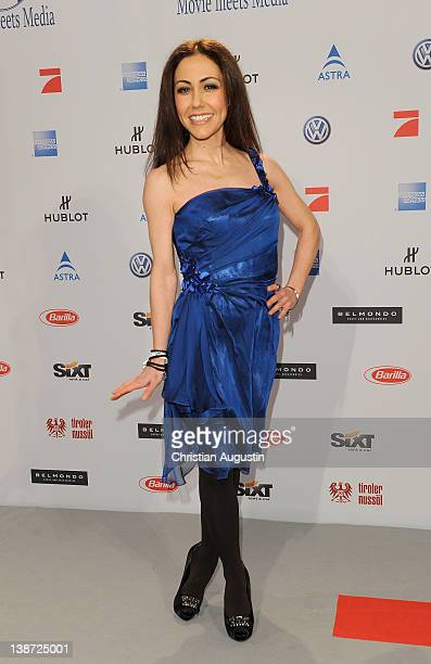 Anastasia Zampounidis attends 'Movie meets Media' Party at Hotel Ritz Carlton on February 10 2012 in Berlin Germany