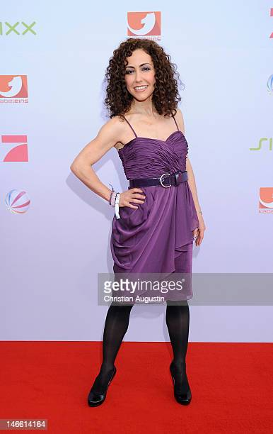 Anastasia Zampounidis attends photocall of ProSiebenSat1 press conference at Hamburg Cruise Center on June 20 2012 in Hamburg Germany