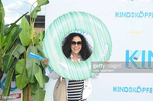 Anastasia Zampounidis attends the Beach BBQ for the German Premiere of 'Kindskoepfe' at O2 World on July 30 2010 in Berlin Germany