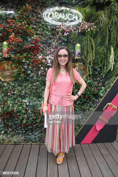 Anastasia Zampounidis attends The Fashion Hub during the Berlin Fashion Week Spring/Summer 2019 at Ellington Hotel on July 5 2018 in Berlin Germany