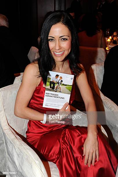 Anastasia Zampounidis attends the 'Felix Burda Award' at hotel Adlon on April 18 2010 in Berlin Germany