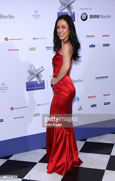 Anastasia Zampounidis attends the 'Felix Burda Award' at the Adlon hotel on April 18 2010 in Berlin Germany