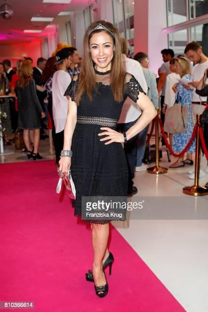 Anastasia Zampounidis attends the Gala Fashion Brunch during the MercedesBenz Fashion Week Berlin Spring/Summer 2018 at Ellington Hotel on July 7...