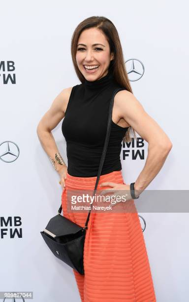 Anastasia Zampounidis attends the Guido Maria Kretschmer show during the Berlin Fashion Week Spring/Summer 2019 at ewerk on July 2 2018 in Berlin...