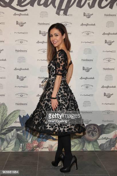 Anastasia Zampounidis attends the Lena Hoschek Fashion Show Berlin at Botanischer Garten on January 16 2018 in Berlin Germany