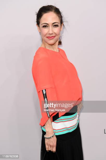Anastasia Zampounidis attends the Sportalm Kitzbuehel show during the Berlin Fashion Week Spring/Summer 2020 at ewerk on July 03 2019 in Berlin...