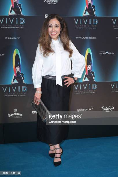 Anastasia Zampounidis attends the VIVID Grand Show premiere at FriedrichstadtPalast on October 11 2018 in Berlin Germany