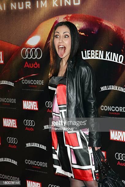 Anastasia Zampounidis Bei Der Kinopremiere Von 'Iron Man' Im Cinemaxx Am Potsdamer Platz In Berlin