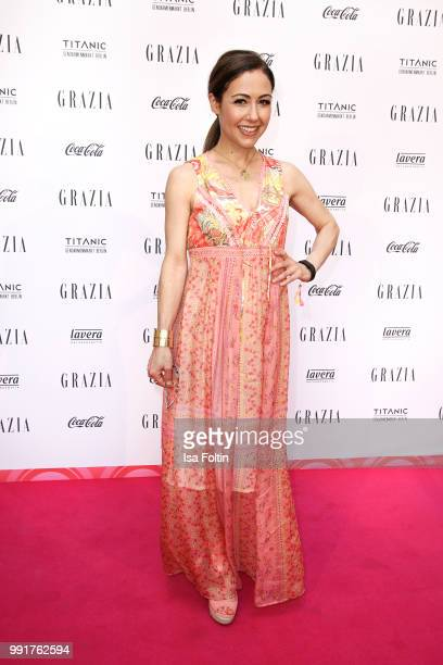 Anastasia Zampounidis during the Grazia Pink Hour at Titanic Hotel on July 4 2018 in Berlin Germany