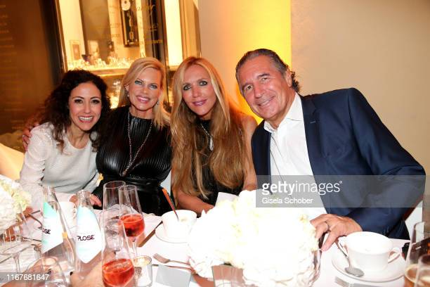 Anastasia Zampounidis Nina Ruge Daniela Brunner and Urs Brunner during the vegan fashion show store opening and dinner of Giulia Romeo at Maximilian...