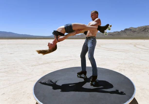 """NV: """"EXTRAVAGANZA"""" Skaters Perform In Desert During COVID-19 Closure"""