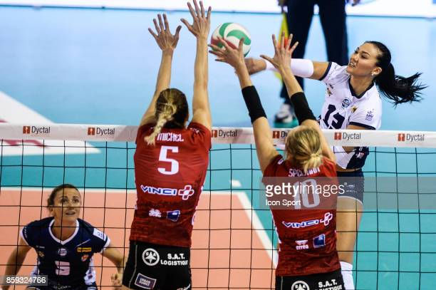 Anastasija Gurbanova of Venelles during the volleyball women's supercup match between Mulhouse and Venelles on October 7 2017 in Mulhouse France