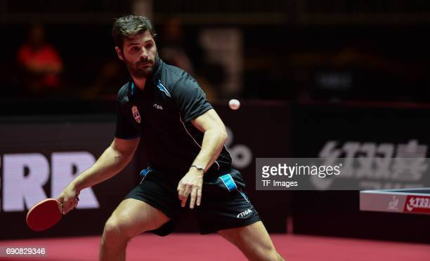"""Anastasios Riniotis of Greece """"n in action during the Table Tennis World Championship at Messe Duesseldorf on May 29, 2017 in Dusseldorf, Germany."""