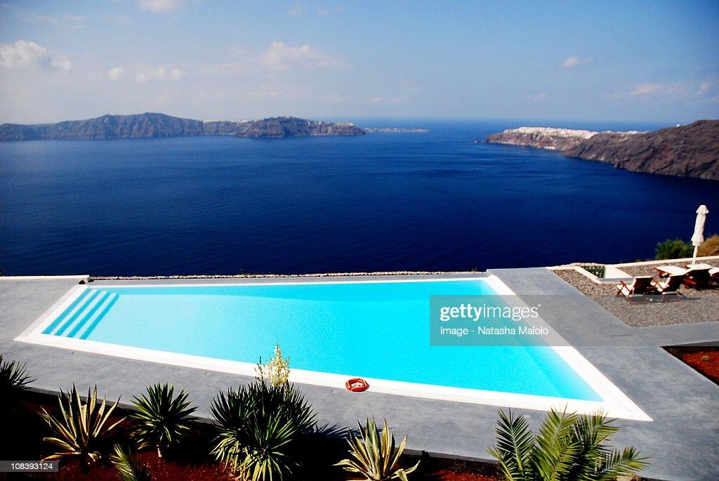 Anastasis Apartments Imerovigli Santorini Stock Photo