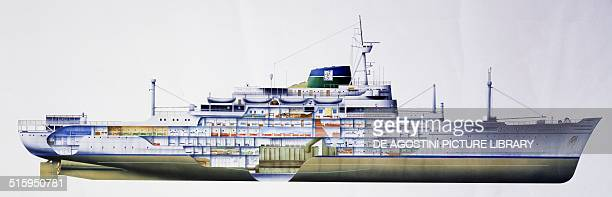 Anastasis hospital ship Mercy Ships ocean vessels providing health care to the poor in port areas around the world cutaway drawing