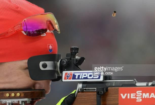TOPSHOT Anastasiya Kuzmina of Slovakia competes during the Women's 125 Km Mass Start competition of IBU World Cup Biathlon in Nove Mesto Czech...