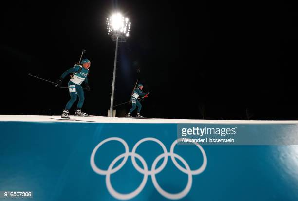 Anastasiya Merkushyna of Ukraine competes during the Women's Biathlon 75km Sprint on day one of the PyeongChang 2018 Winter Olympic Games at Alpensia...