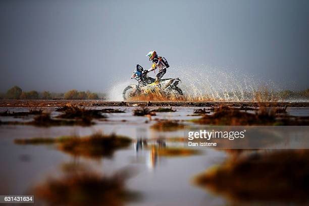Anastasiya Nifontova of Russia and HT Husqvarna Rally rides a FR450 Rally Husqvarna bike in the Classe 21 Super Production during stage eight of the...