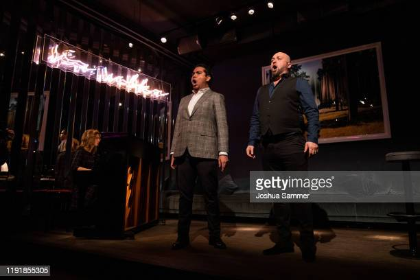 Anastasiya Titovych Jorge Espino and Bogdan Talos perform during the press event One Bellini with Rolando Villazon on the occasaion of the new...