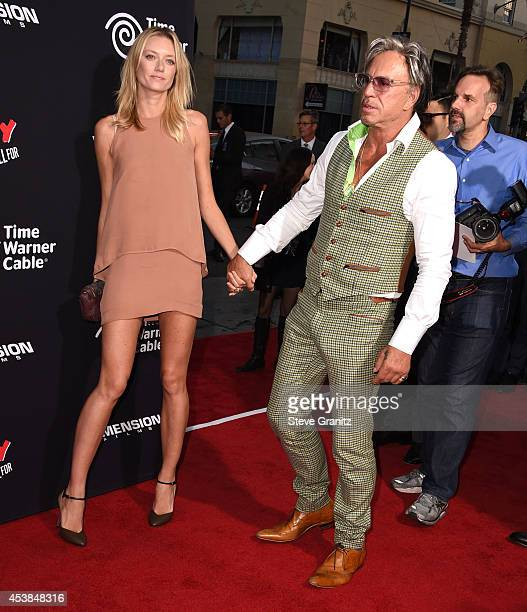 Anastassija Makarenko and Mickey Rourke arrives at the 'Sin City A Dame To Kill For' Los Angeles Premiere at TCL Chinese Theatre on August 19 2014 in...