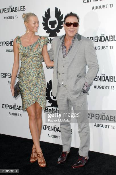 Anastassija Makarenko and Mickey Rourke attend Exclusive World Sneak Screening of THE EXPENDABLES at Grauman's Chinese Theatre on August 3 2010 in...