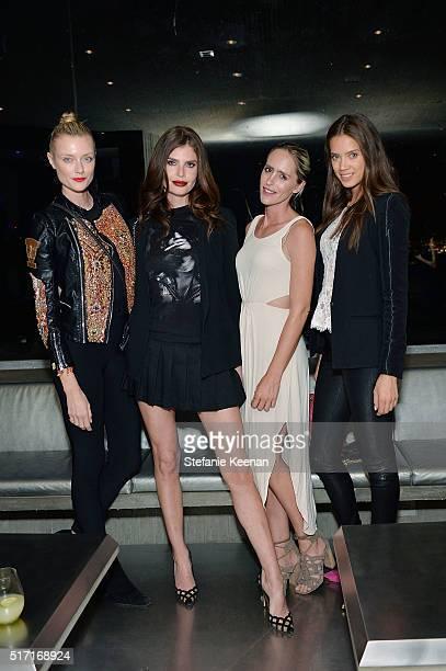Anastassija Makarenko Julia Lescova Natalia Malova and Jacqueline Oloniceva attend LACMA Celebrates Promised Gift of The James Goldstein House on...