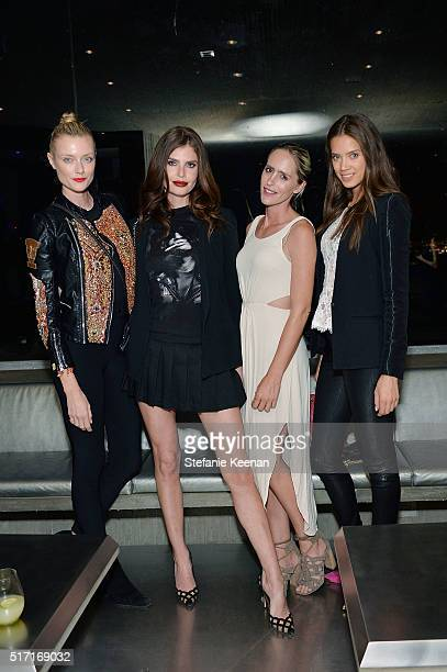 Anastassija Makarenko, Julia Lescova; Natalia Malova and Jacqueline Oloniceva attend LACMA Celebrates Promised Gift of The James Goldstein House on...