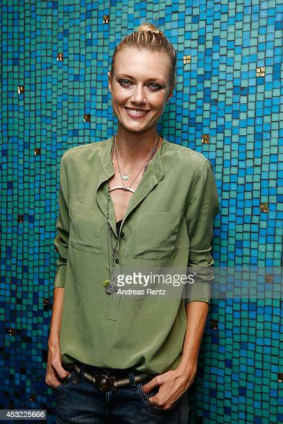 Anastassija Makarenko poses for a portrait after the GarconF fashion show at BalloniHallen on August 5 2014 in Cologne Germany