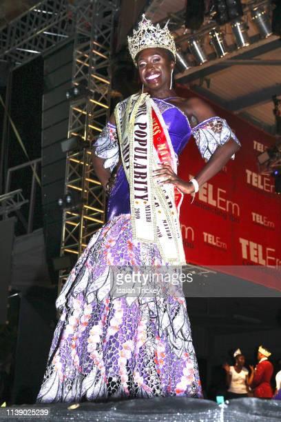 Anastatia Peters winner of the Miss Mature 2019 pageant at The St Maarten Festival Village in Philipsburg St Maarten on April 23 2019