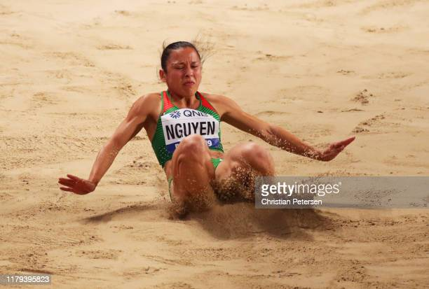 Anasztázia Nguyen of Hungary competes in the Women's Long Jump final during day ten of 17th IAAF World Athletics Championships Doha 2019 at Khalifa...