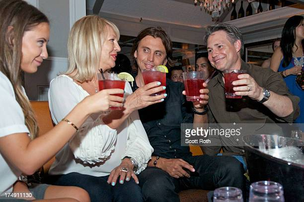 Anat Popovsky Galina Cheban Jonathan Cheban and Jason Binn attend the 2013 Summer Soiree at Pink Elephant on July 27 2013 in Southampton New York
