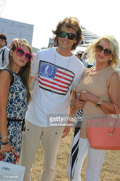 Anat Popovsky Jonathan Cheban and Galina Cheban attend the opening day of the Bridgehampton Polo Club's 17th Season at the Bridgehampton Polo Club on...