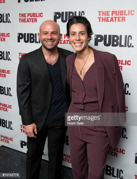 Anatol Yusef and Roberta Colindrez attend the opening night of 'Hamlet' at The Public Theater on July 13 2017 in New York City