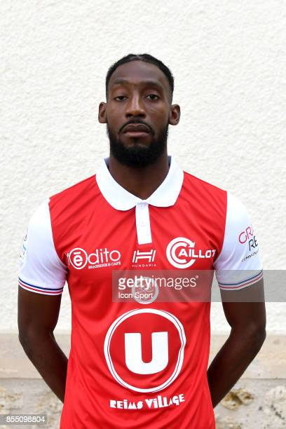 Anatole Ngamukol during Photoshooting of Stade de Reims for new season 2017/2018 on September 27 2017 in Reims France