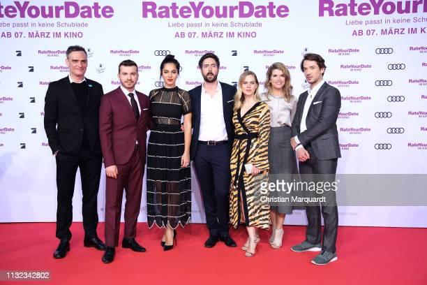 Anatole Taubman Edin Hasanovic Nilam Farooq David Dietl Alicia von Rittberg Anke Engelke and Marc Benjamin attend the 'Rate Your Date' premiere at...